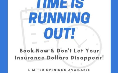Book Now And Don't Let Your Insurance Dollars Disappear!